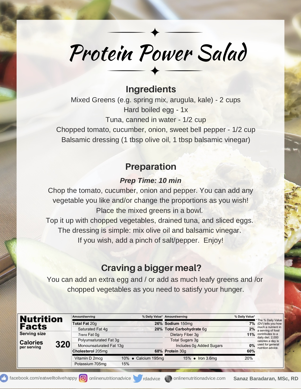 Protein Power Salad - Online Nutrition Advice